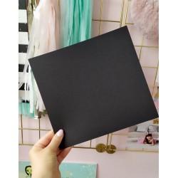 Дизайнерский картон черный 21*22,5 см, плотность 270 гр