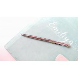 Шариковая ручка Серебро с Короной, металл, в индивидуальной пластиковой  упаковке