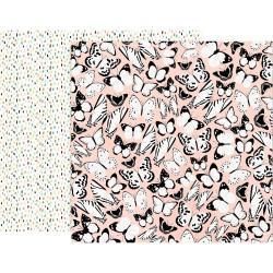 Лист скрапбумаги5th & Monaco - 30,5х30,5см - Pink Paislee