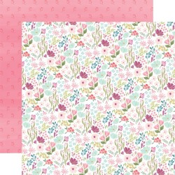 Лист скрапбумаги Flora No. 3 Bright Small Floral - 30,5х30,5см - Carta Bella