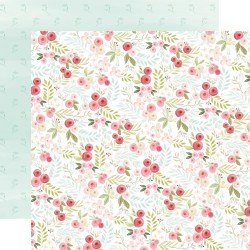 Лист скрапбумаги Flora No. 3 Subtle Small Floral - 30,5х30,5см - Carta Bella