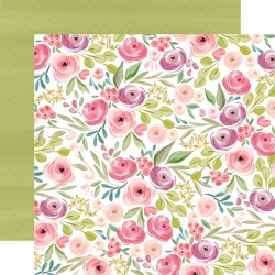 Лист скрапбумаги Flora No. 3 Bright Large Floral - 30,5х30,5см - Carta Bella