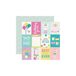 "Лист скрапбумаги Magical Birthday 3""X4"" Elements - 30,5х30,5см - Simple Stories"
