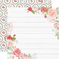 Лист скрапбумаги Farmhouse Market Floral Corners - 30,5х30,5см - Carta Bella