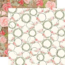 Лист скрапбумаги Farmhouse Market Wreaths - 30,5х30,5см - Carta Bella
