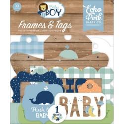 Набор высечек BABY BOY, 33шт, Echo Park Paper