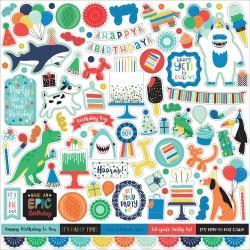 Наклейки It's Your Birthday Boy STICKERS, 30*30 см, Echo Park Paper